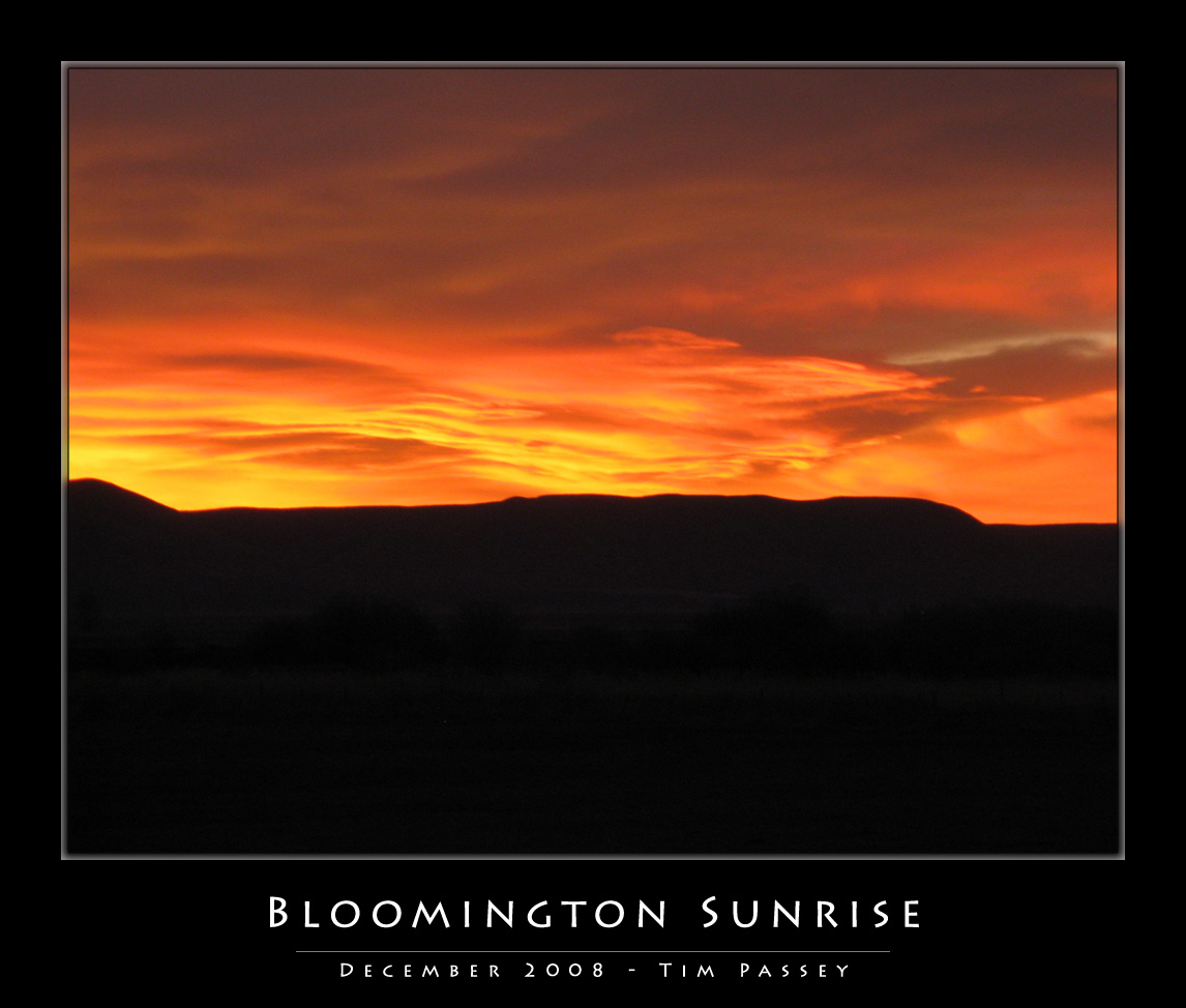 Bloomington Sunrise - Tim Passey