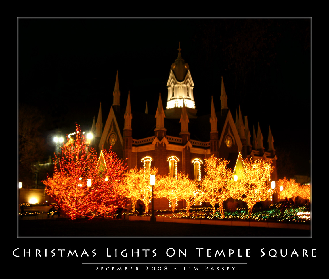 Temple Square, Salt Lake City, Utah - Photo by Tim Passey