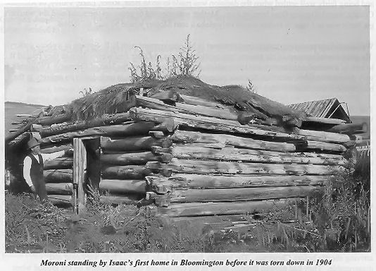 1904 Pic of Log Cabin In Bloomington