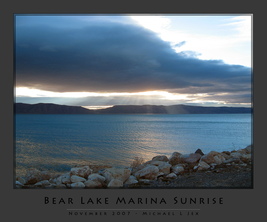 Bear Lake Marina Sunrise