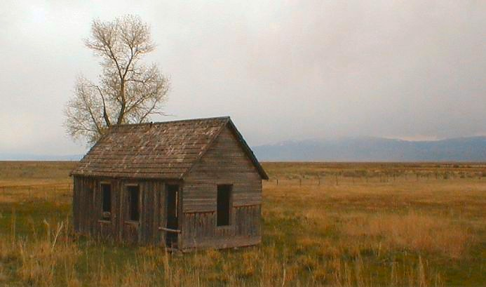 Homestead Near Dingle, Bear Lake Valley Idaho - 13 May 2000
